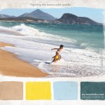 Fighting the waves color palette