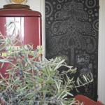 Chalkboard christmas tree with presents to wish for