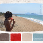 Sweet&salty summer color palette